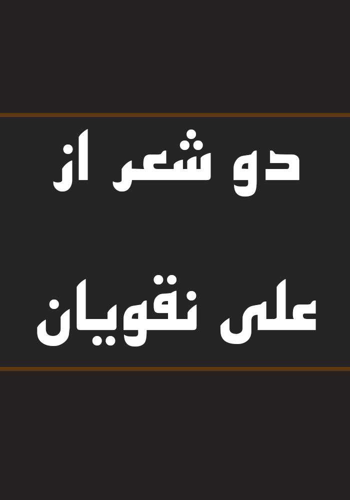 دو شعر از علی نقویان